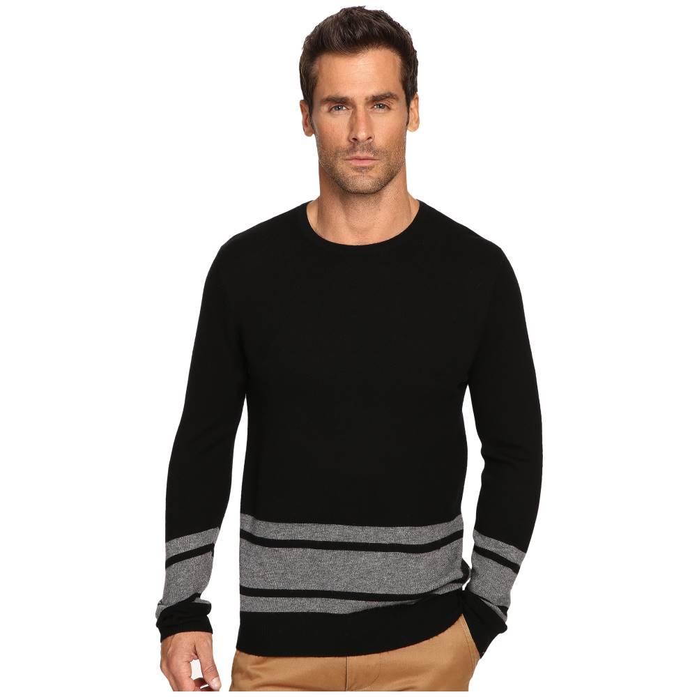 マイケルスターズ メンズ トップス ニット・セーター【Blanket Stripe Sweater】Black/Derby Grey