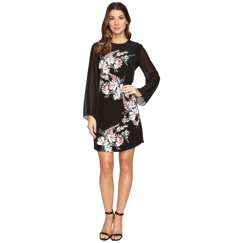 ヴィンス カムート レディース ワンピース・ドレス ワンピース【Chiffon Sleeve Winter Gerland Dress】Rich Black
