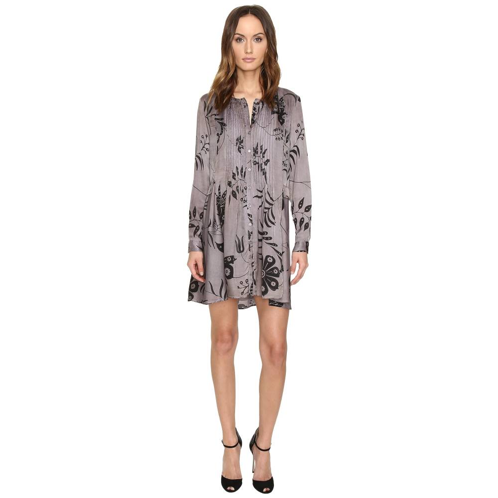 マニラ グレース レディース ワンピース・ドレス ワンピース【Printed Long Sleeve Dress】Taupe Mix