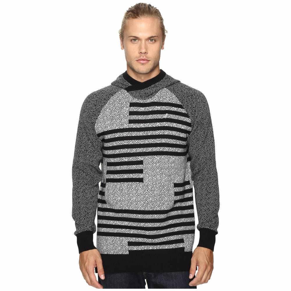 ステイプル メンズ トップス パーカー【Check Jacquard Hooded Sweater】Heather Grey