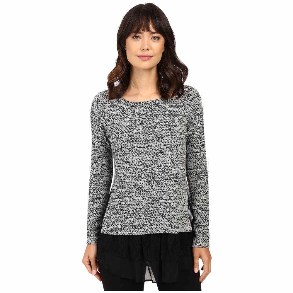 カレンケーン Karen Kane レディース トップス ニット・セーター【Lace Inset Sweater】Light Heather Grey