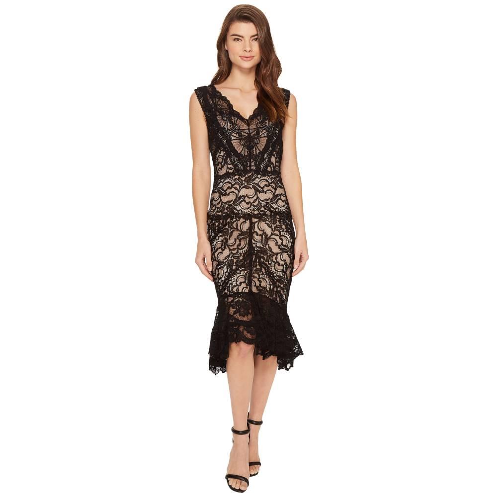 ニコルミラー Nicole Miller レディース トップス ワンピース【Havana Stretch Lace Dress】Black/Nude