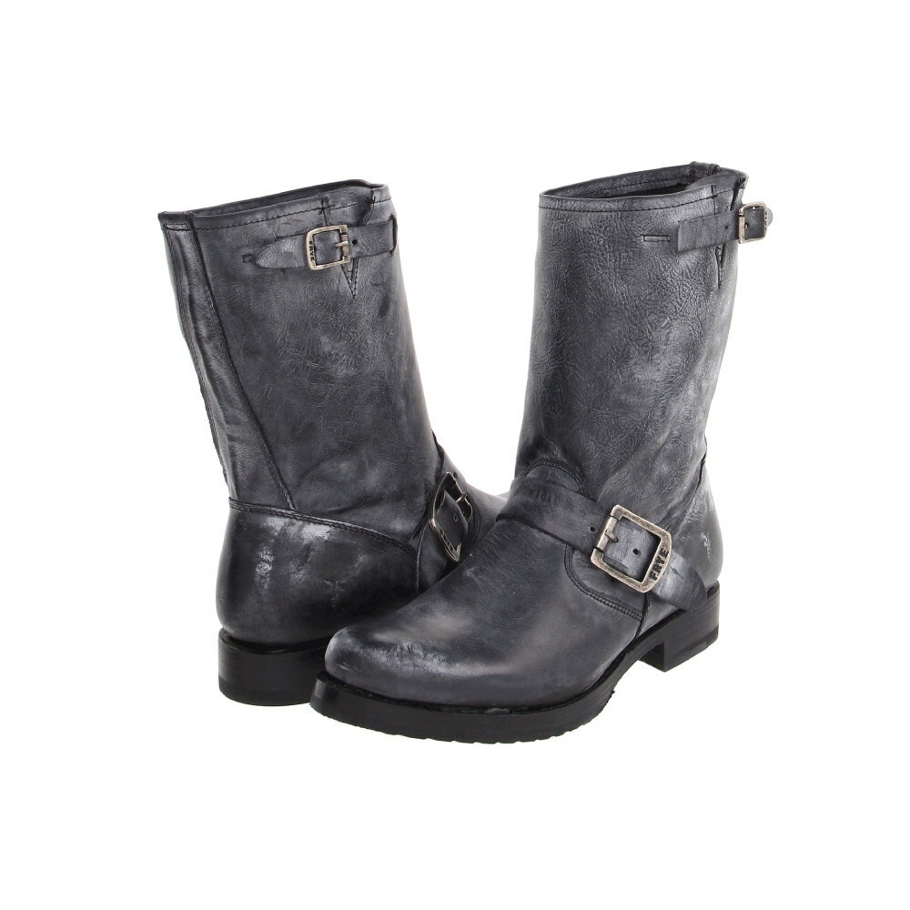 フライ レディース シューズ・靴 ブーツ【Veronica Shortie】Black Burnished Antiques Leather