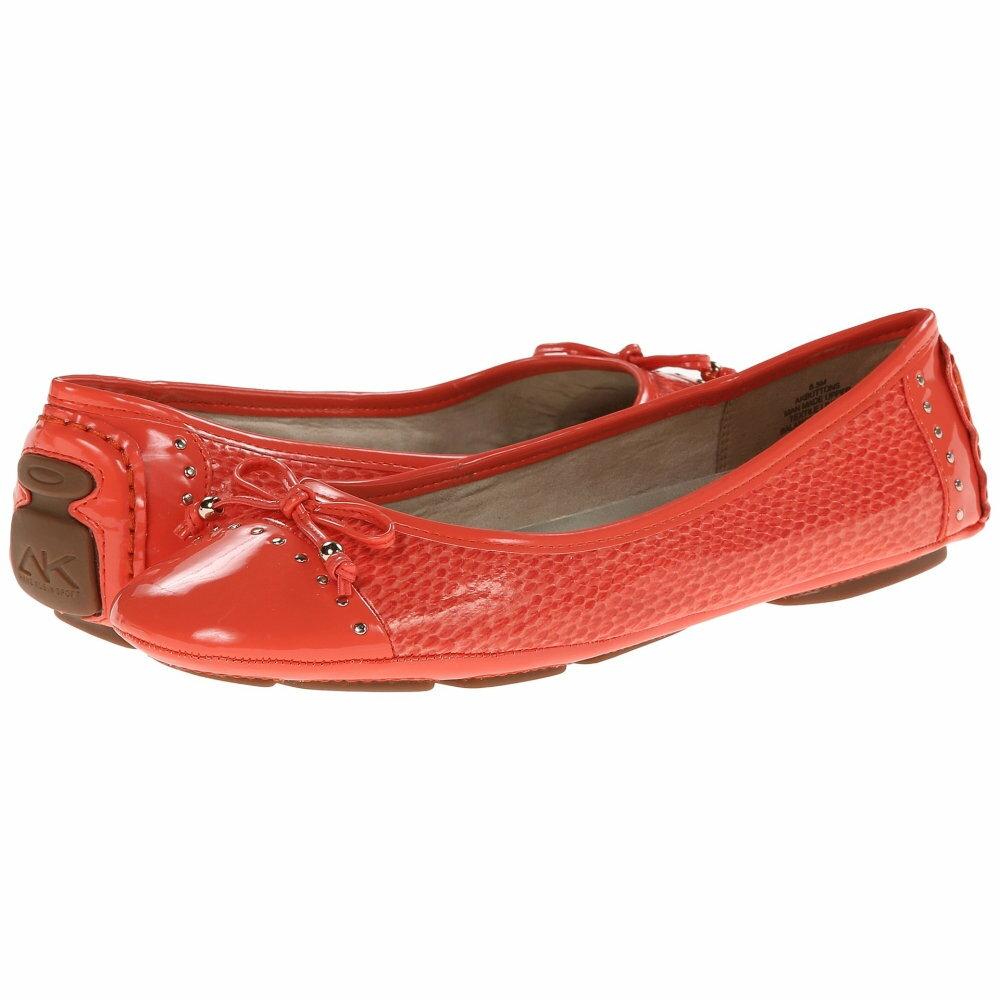 アン クライン レディース シューズ・靴 スリッポン・フラット【Buttons】Firebrick Reptile
