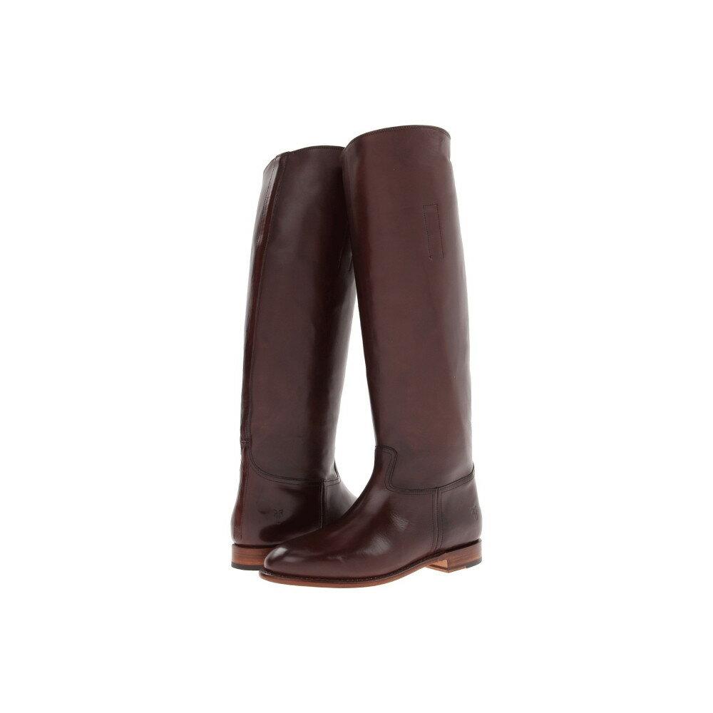 フライ レディース シューズ・靴 ブーツ【Abigail Riding】Dark Brown Smooth Polished Veg