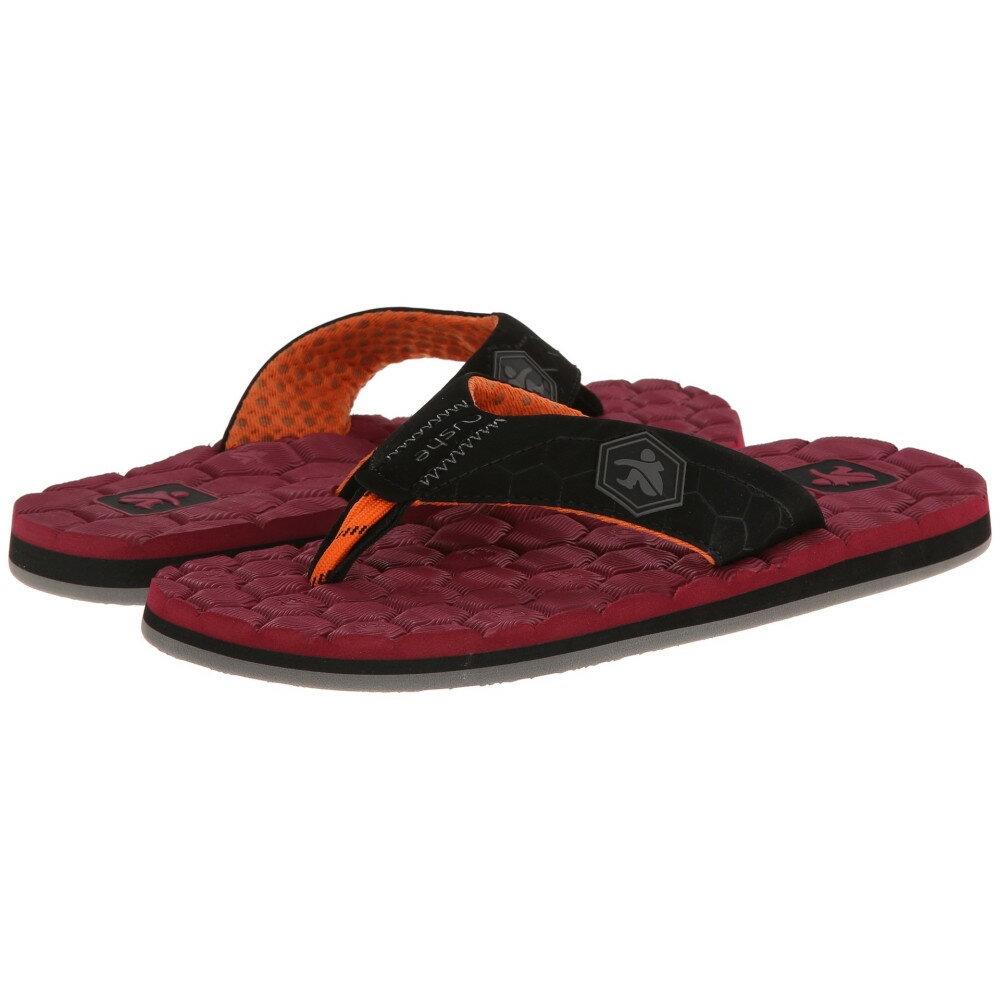 クッシー メンズ シューズ・靴 ビーチサンダル【Flipside】Red/Black