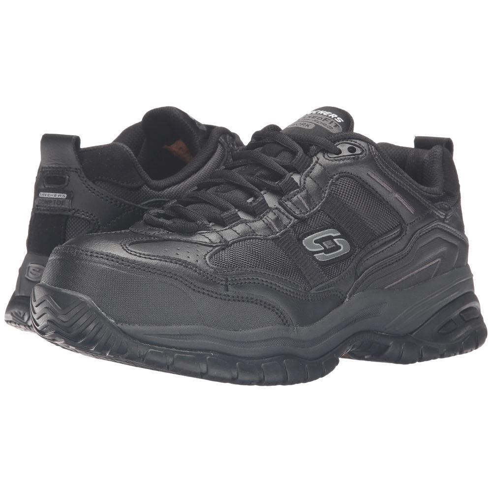 スケッチャーズ メンズ シューズ・靴 スニーカー【On Site - Robson】Black Leather/Black Mesh