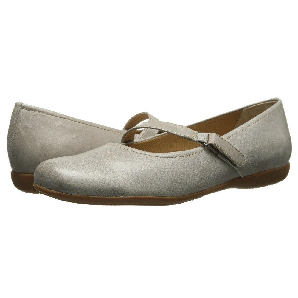 トロッターズ Trotters レディース シューズ・靴 フラット【Simmy】Light Grey Soft Dull Leather
