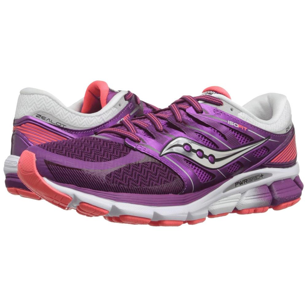 サッカニー Saucony レディース シューズ・靴 スニーカー【Zealot ISO】Purple/Coral