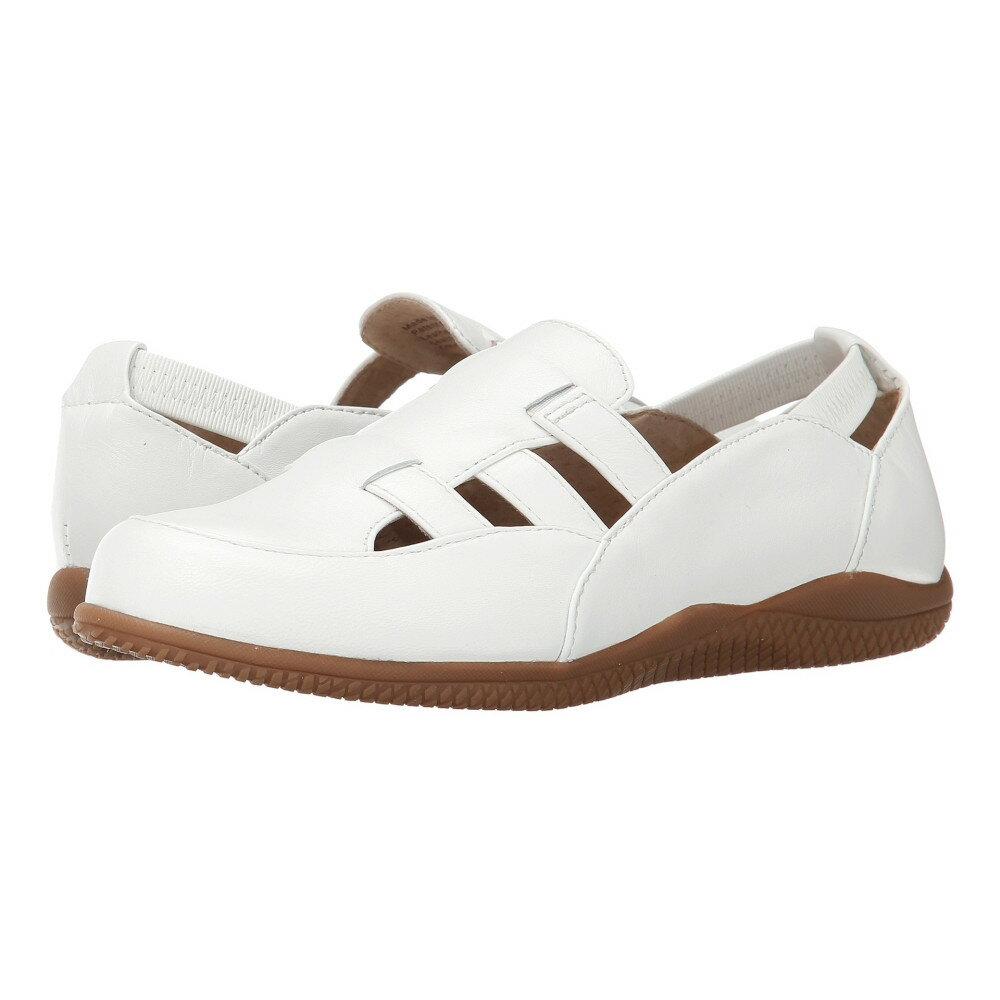 ソフトウォーク SoftWalk レディース シューズ・靴 フラット【Hampton】White Soft Dull Leather