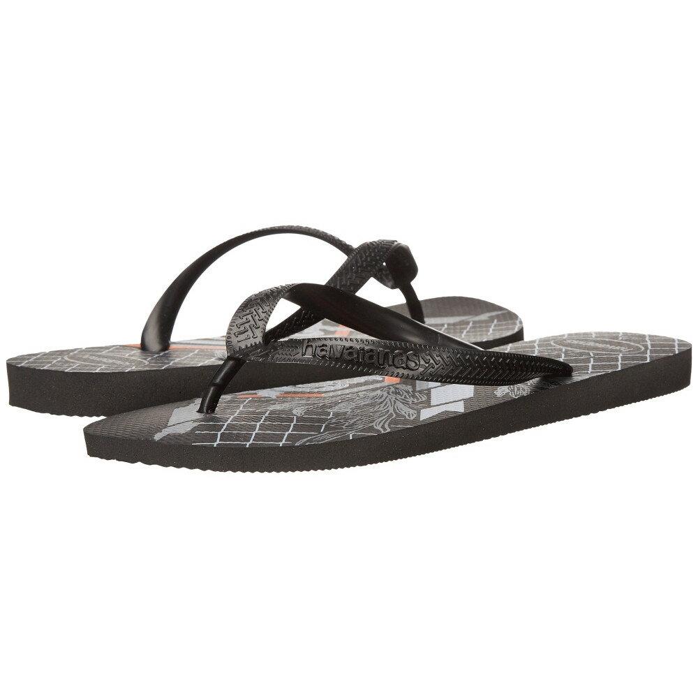 ハワイアナス メンズ シューズ・靴 ビーチサンダル【Bravo Flip Flops】Black/Black