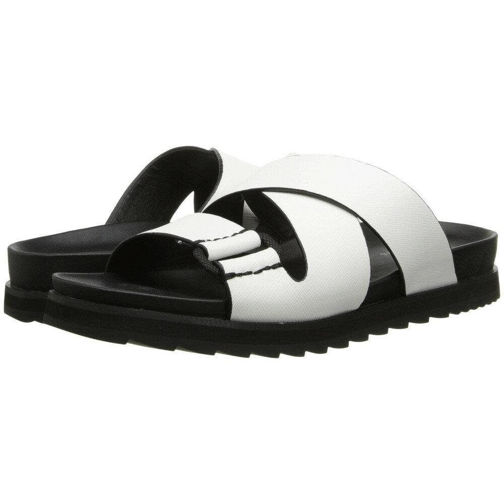 カルバンクライン Calvin Klein Jeans レディース シューズ・靴 サンダル【Valeri】White Safiano Leather