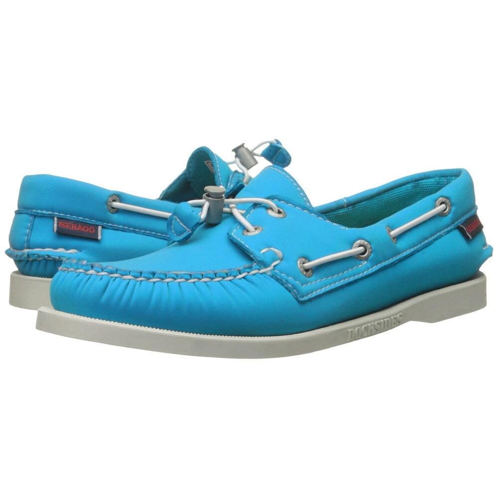 セバゴ レディース シューズ・靴 スリッポン・フラット【Dockside Ariaprene】Aqua Blue Neoprene