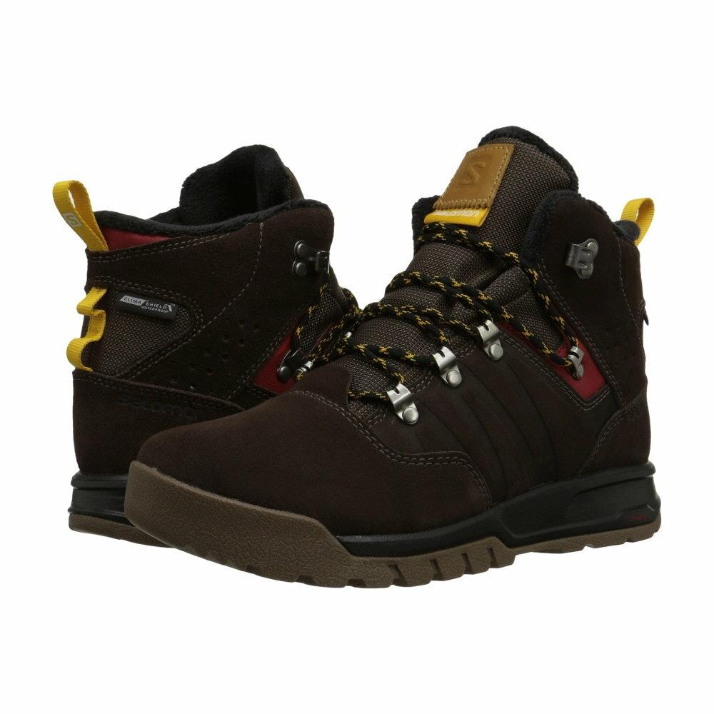 サロモン Salomon メンズ シューズ・靴 ブーツ【Utility TS CS WP】Trophy Brown Leather/Absolute Brown-X/Sunny-X