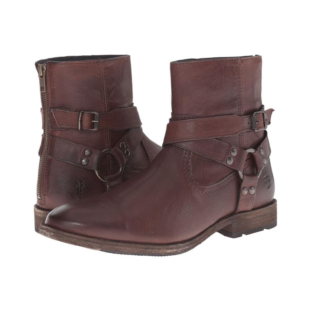 フライ メンズ シューズ・靴 ブーツ【Ethan Harness】Dark Brown Buffalo Leather