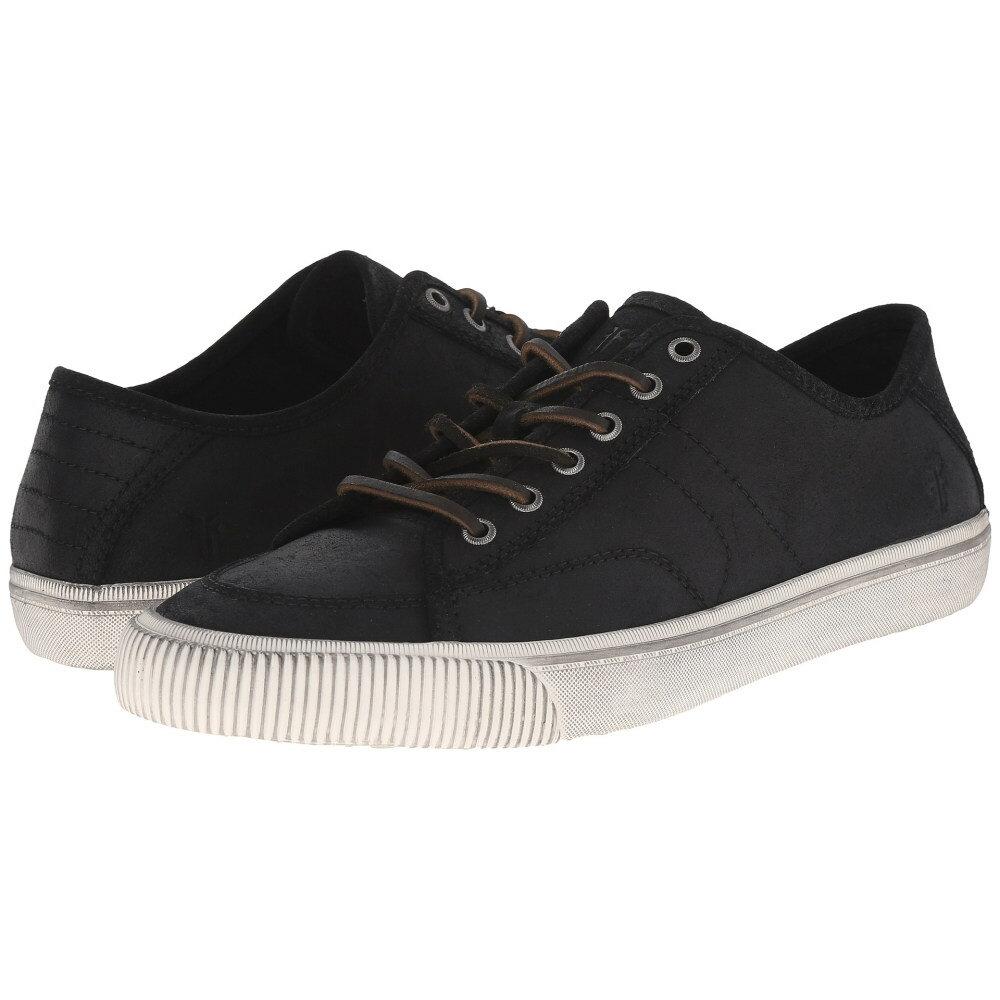フライ メンズ シューズ・靴 スニーカー【Miller Low Lace】Black Waxed Vintage Leather