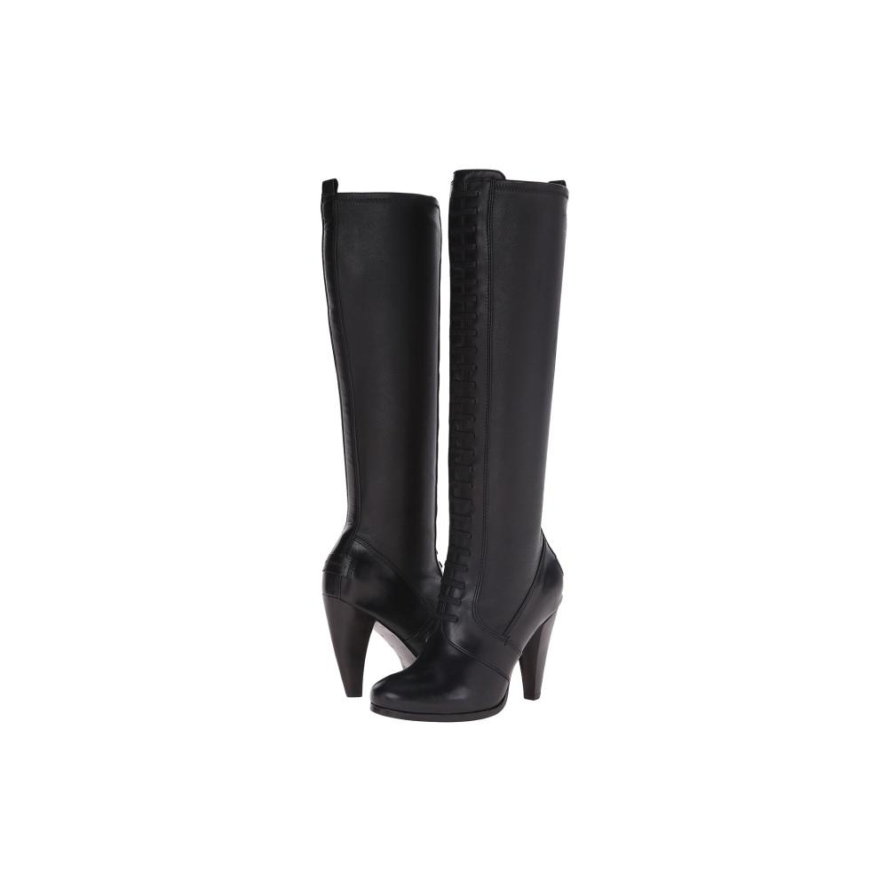 フライ レディース シューズ・靴 ブーツ【Mikaela Stretch Lace】Black Smooth Vintage Leather