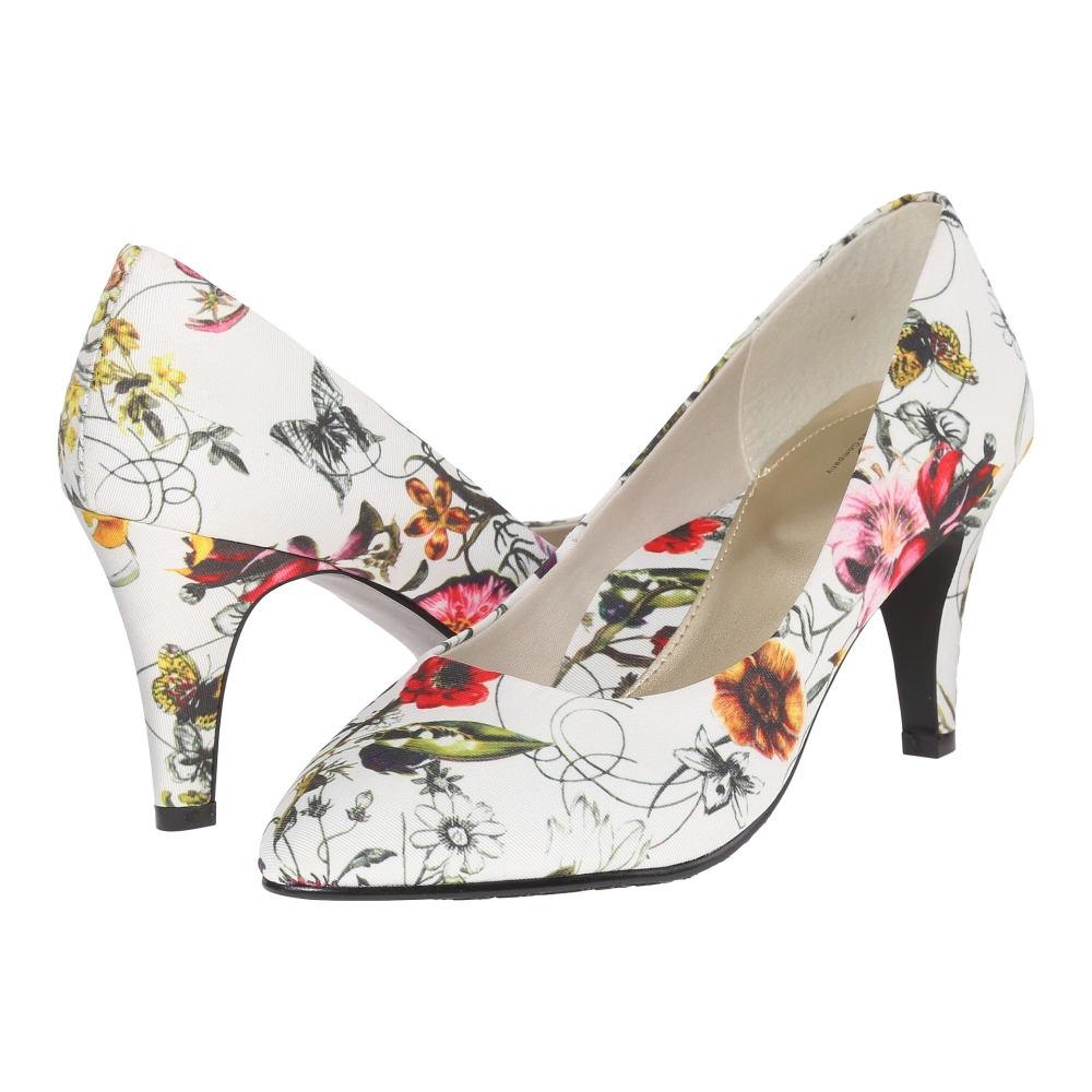 ソフトスタイル Soft Style レディース シューズ・靴 パンプス【Raylene】White Spring Grosgrain