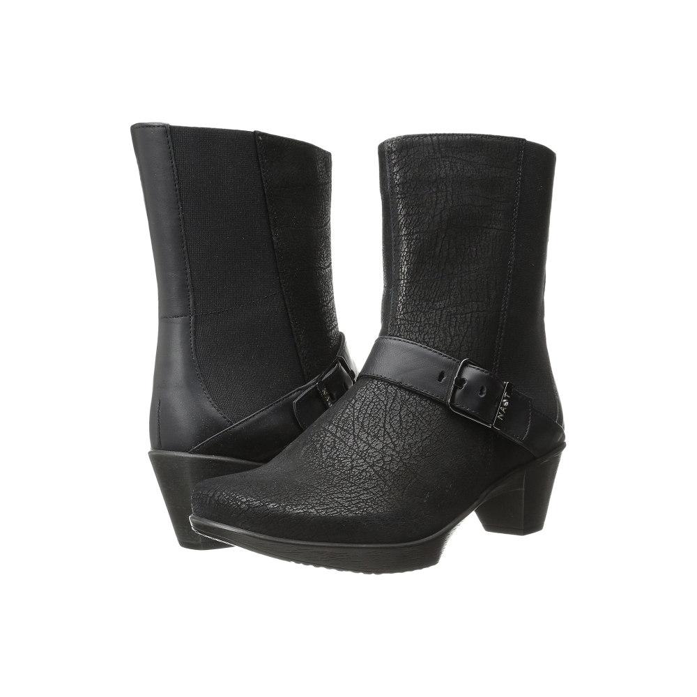 ナオトフットウェアー レディース シューズ・靴 ブーツ【Reflect】Black Crackle Leather/Jet Black Leather