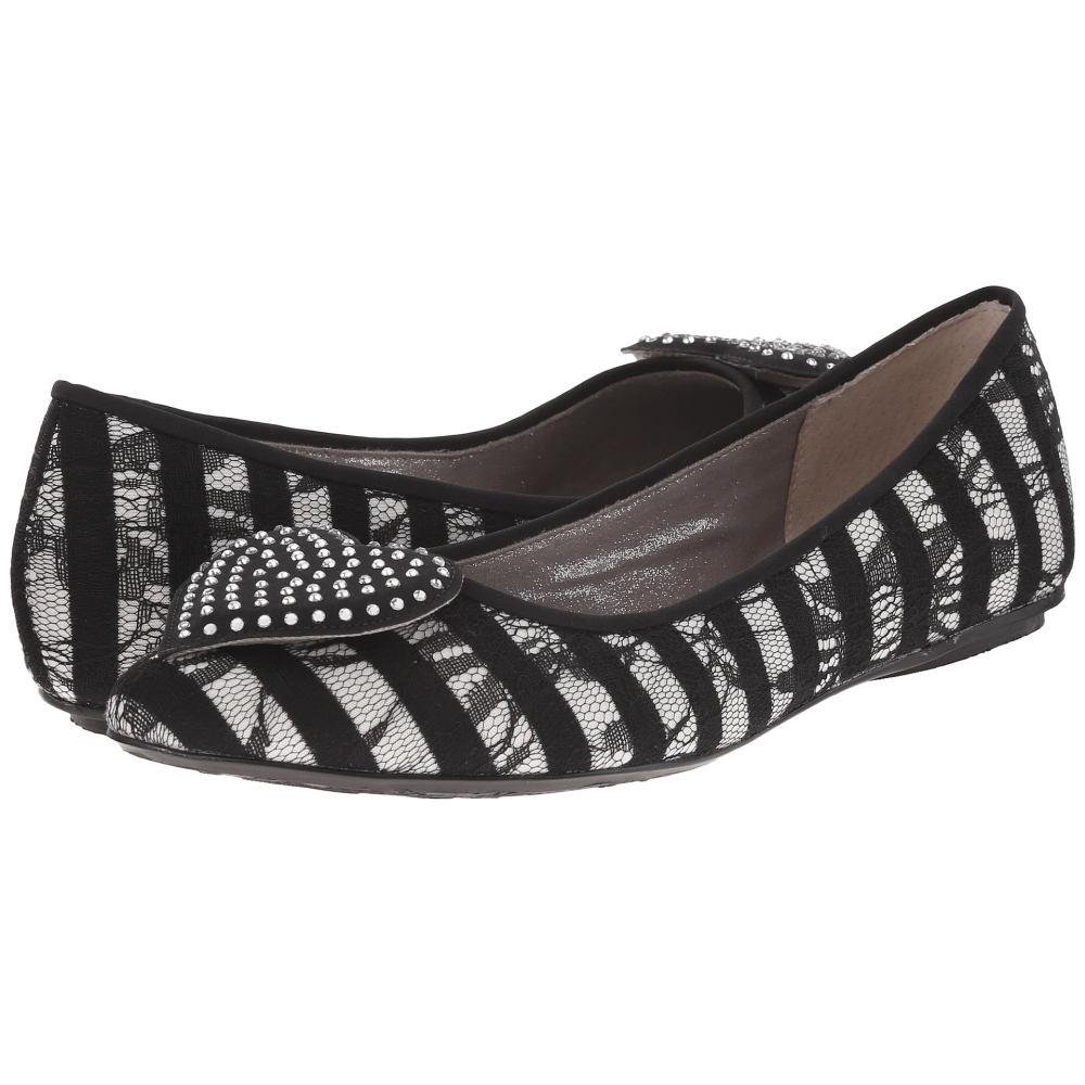 ジェイレニー レディース シューズ・靴 スリッポン・フラット【Avary】Black/White