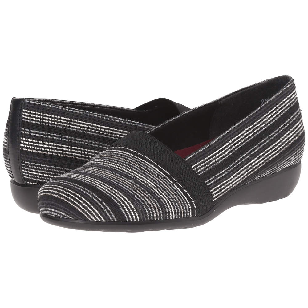 マンロー Munro レディース シューズ・靴 フラット【Bonita】Black Multi Fabric