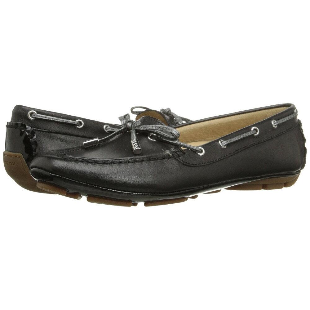 ジェオックス Geox レディース シューズ・靴 ボートシューズ【WCLELIA3】Black/Dark Silver