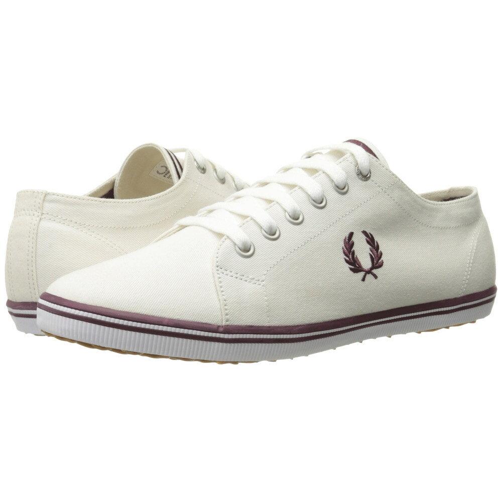 フレッドペリー メンズ シューズ・靴 スニーカー【Kingston Twill】Porcelain/Oxblood