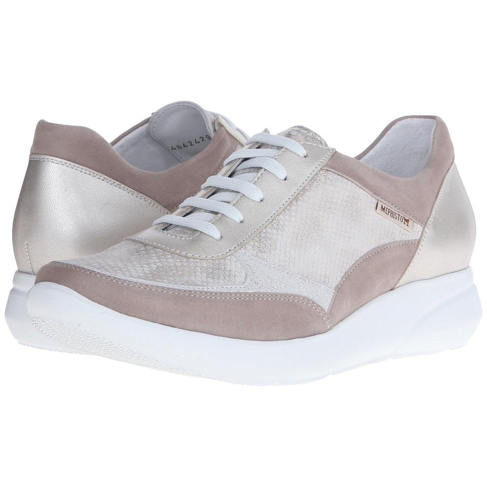 メフィスト Mephisto レディース シューズ?靴 スニーカー【Diane】Warm Grey Velcalf Premium/Light Sand