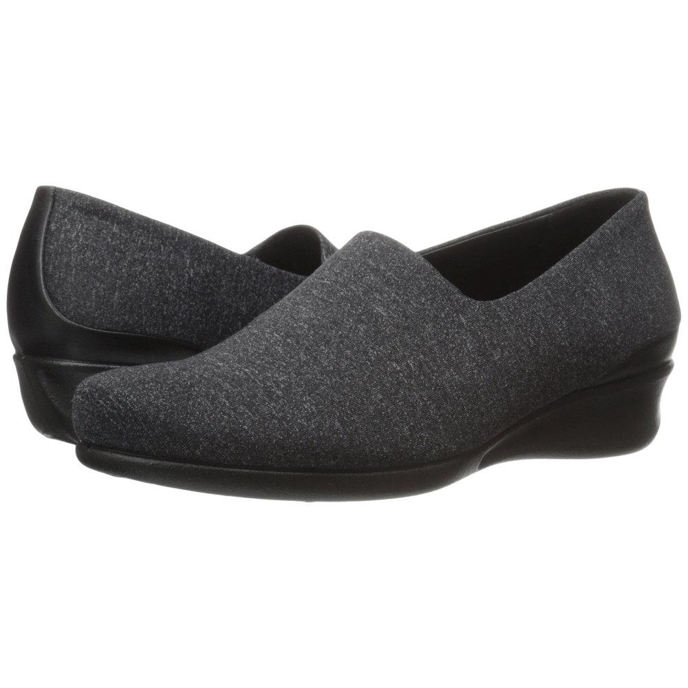 エコー レディース シューズ・靴 スリッポン・フラット【Abelone Stretch Slip-On】Black/White/Black