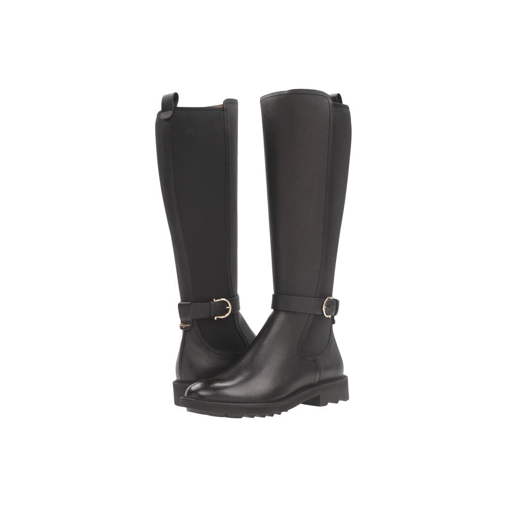 サルヴァトーレ フェラガモ レディース シューズ・靴 ブーツ【Tall Pebbled Leather Boot】Nero Light Pebbled Leather