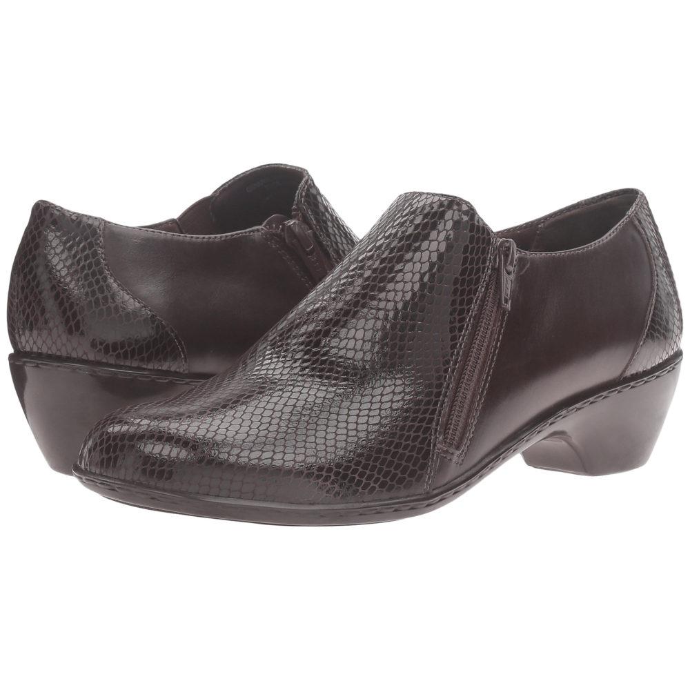 ウォーキング クレードル レディース シューズ・靴 ヒール【Cadence】Brown Leather/Brown Patent Snake Print