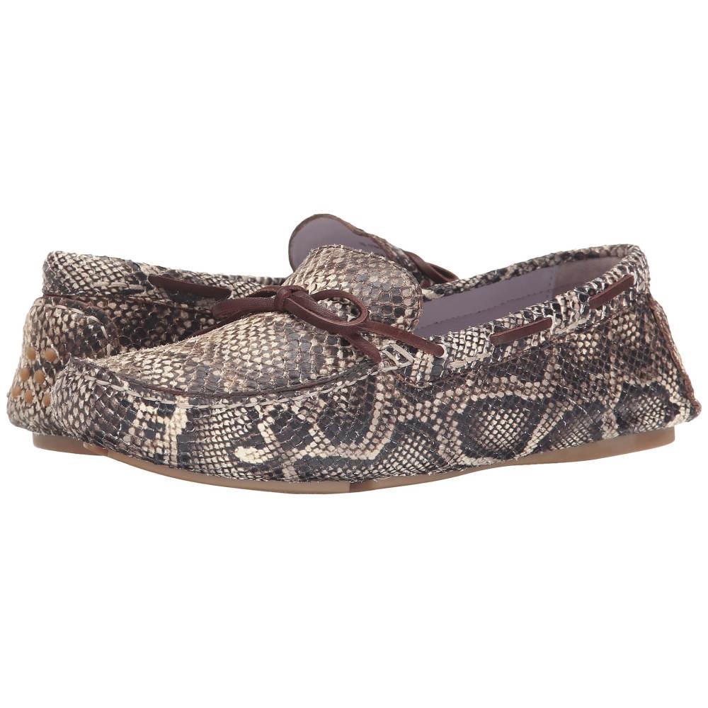 ジョンストン&マーフィー レディース シューズ・靴 スリッポン・フラット【Maggie Camp Moc】Brown/Natural Snake Print