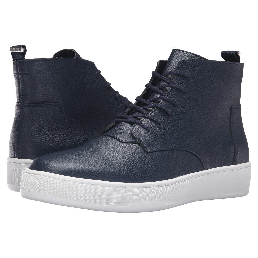 カルバンクライン メンズ シューズ・靴 スニーカー【Natel】Dark Navy Tumbled Leather