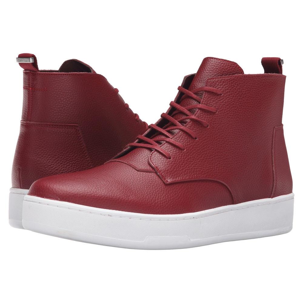 カルバンクライン メンズ シューズ・靴 スニーカー【Natel】Dark Red Tumbled Leather