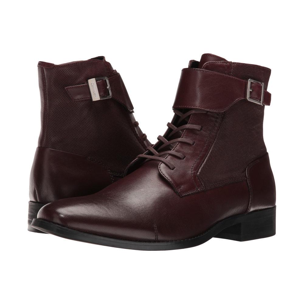 カルバンクライン メンズ シューズ・靴 ブーツ【Stokely】Oxblood Calf Leather