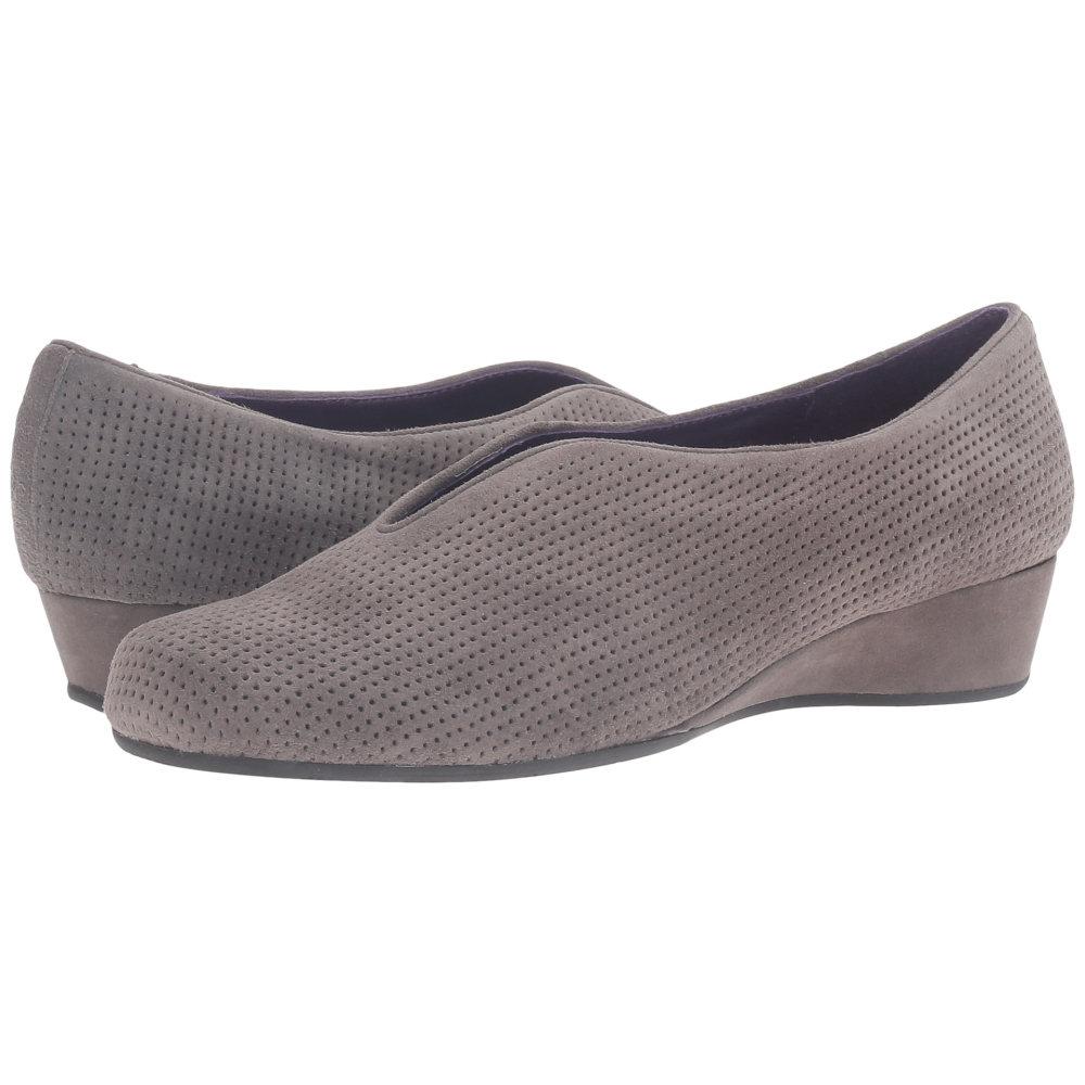 ヴァネリ Vaneli レディース シューズ・靴 フラット【Mango】Grey Perforated Suede