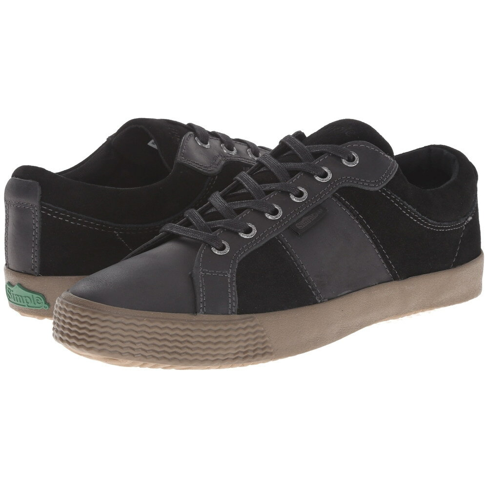 シンプル Simple メンズ シューズ・靴 スニーカー【Waveoff】Black Leather