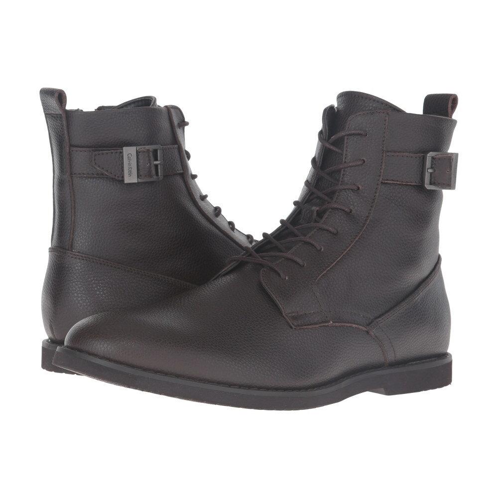 カルバンクライン メンズ シューズ・靴 ブーツ【Farrin】Dark Brown Tumbled Action