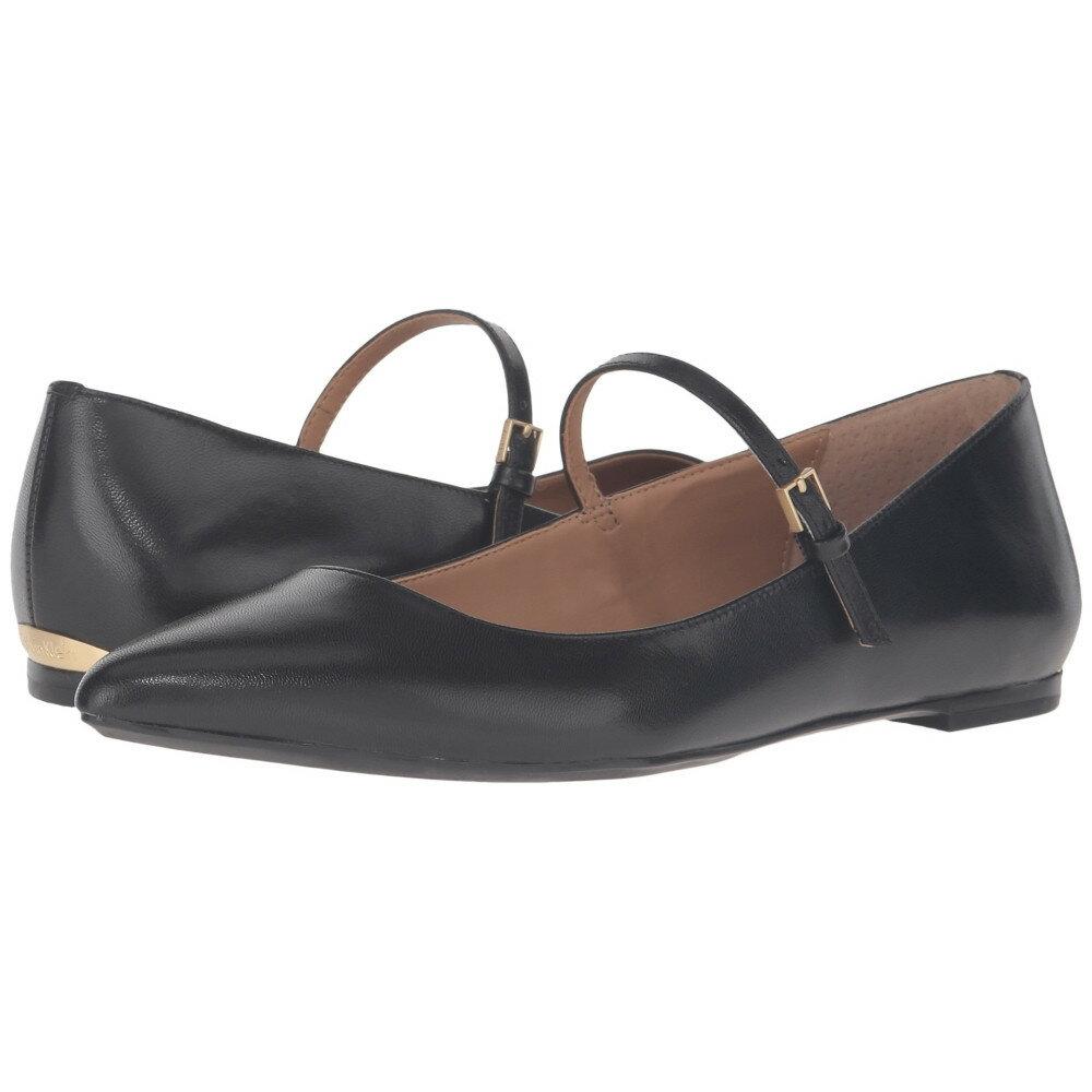カルバンクライン Calvin Klein レディース シューズ・靴 フラット【Gracy】Black Leather/Patent