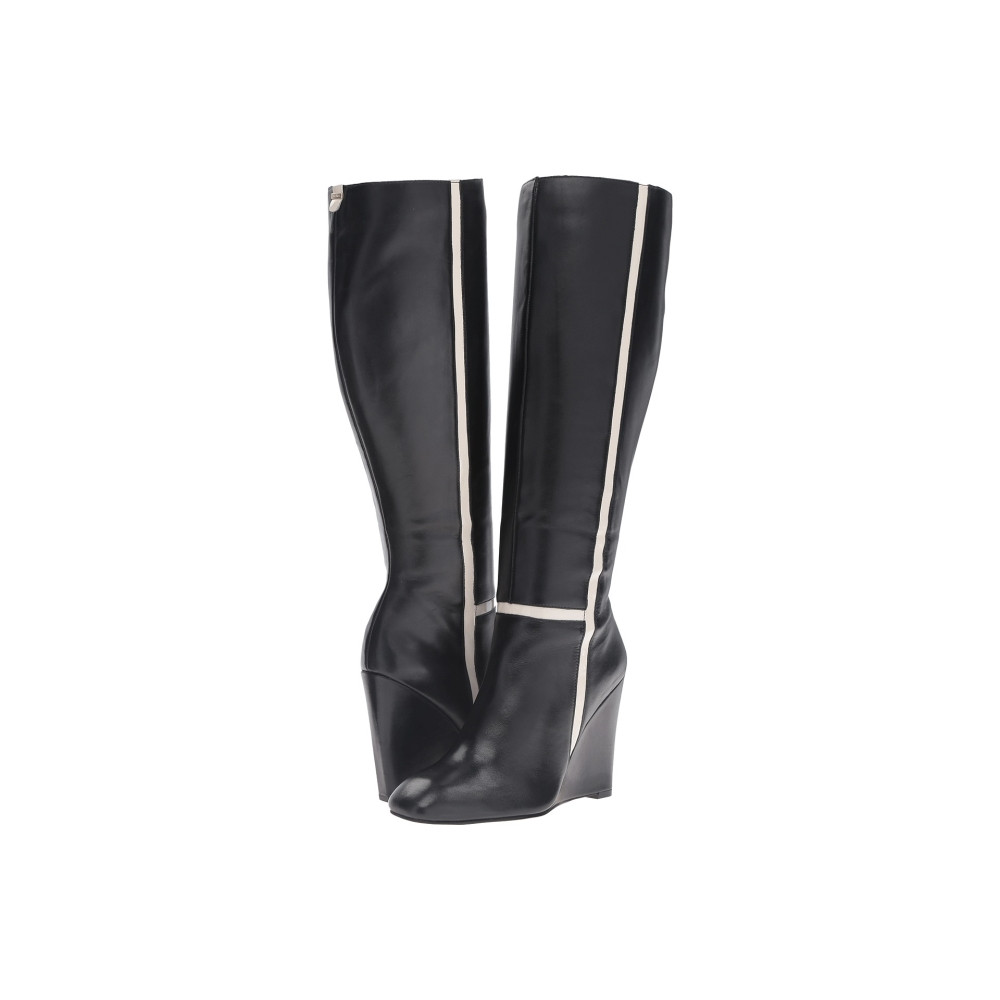 カルバンクライン Calvin Klein レディース シューズ・靴 ブーツ【Poloma】Black/Soft White Leather/Patent