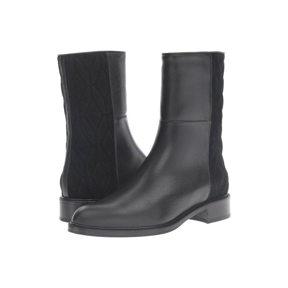 アクアタリア レディース シューズ・靴 ブーツ【Gabrina】Black Pebbled Calf/Suede