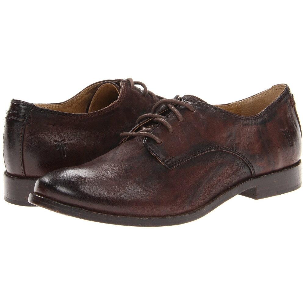 フライ レディース シューズ・靴 ローファー・オックスフォード【Anna Oxford】Dark Brown Antique Soft Vintage