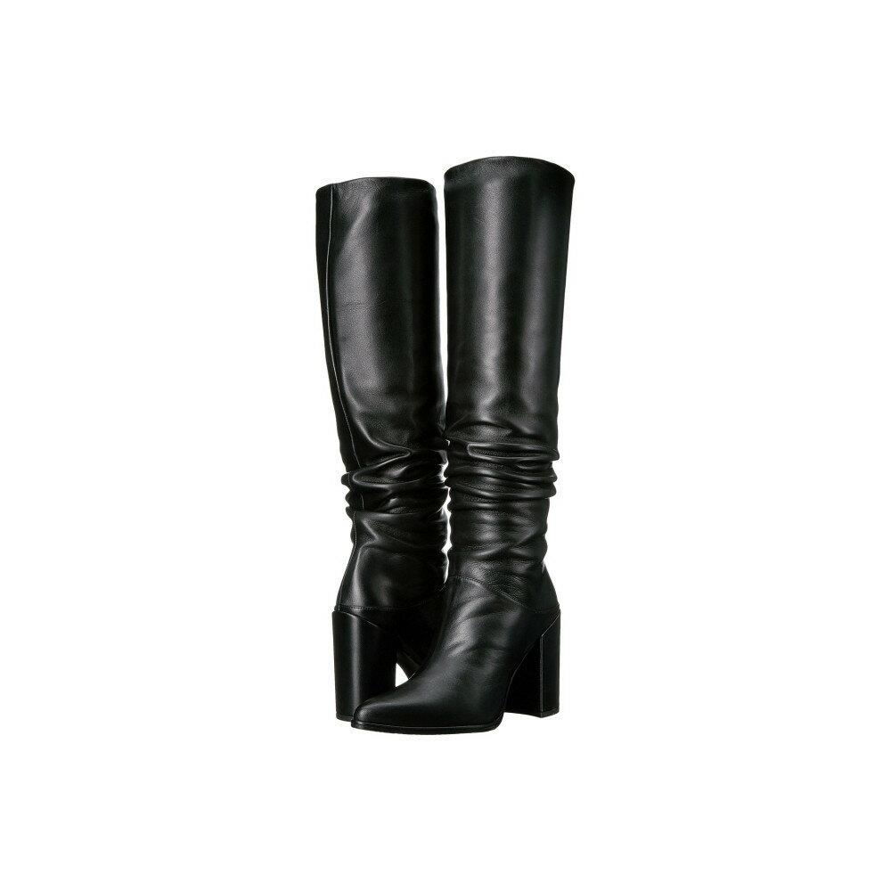スチュアート ワイツマン レディース シューズ・靴 ブーツ【Scrunchy】Black Nappa Leather