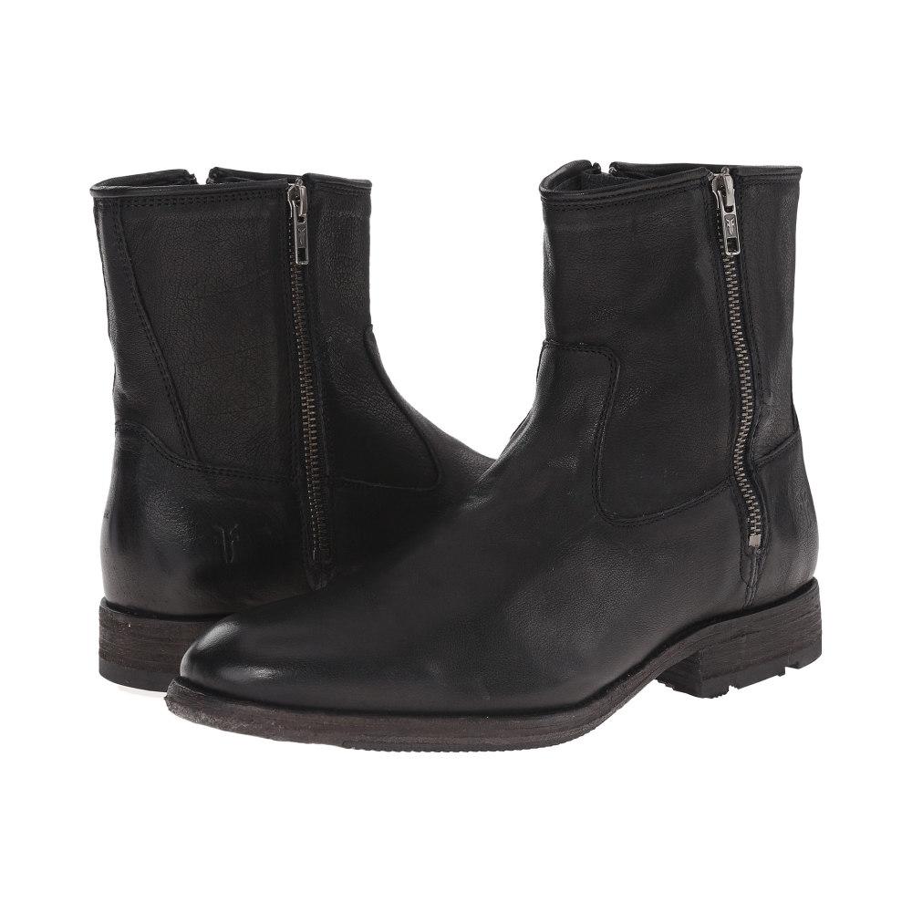 フライ メンズ シューズ・靴 ブーツ【Ethan Double Zip】Black Buffalo Leather