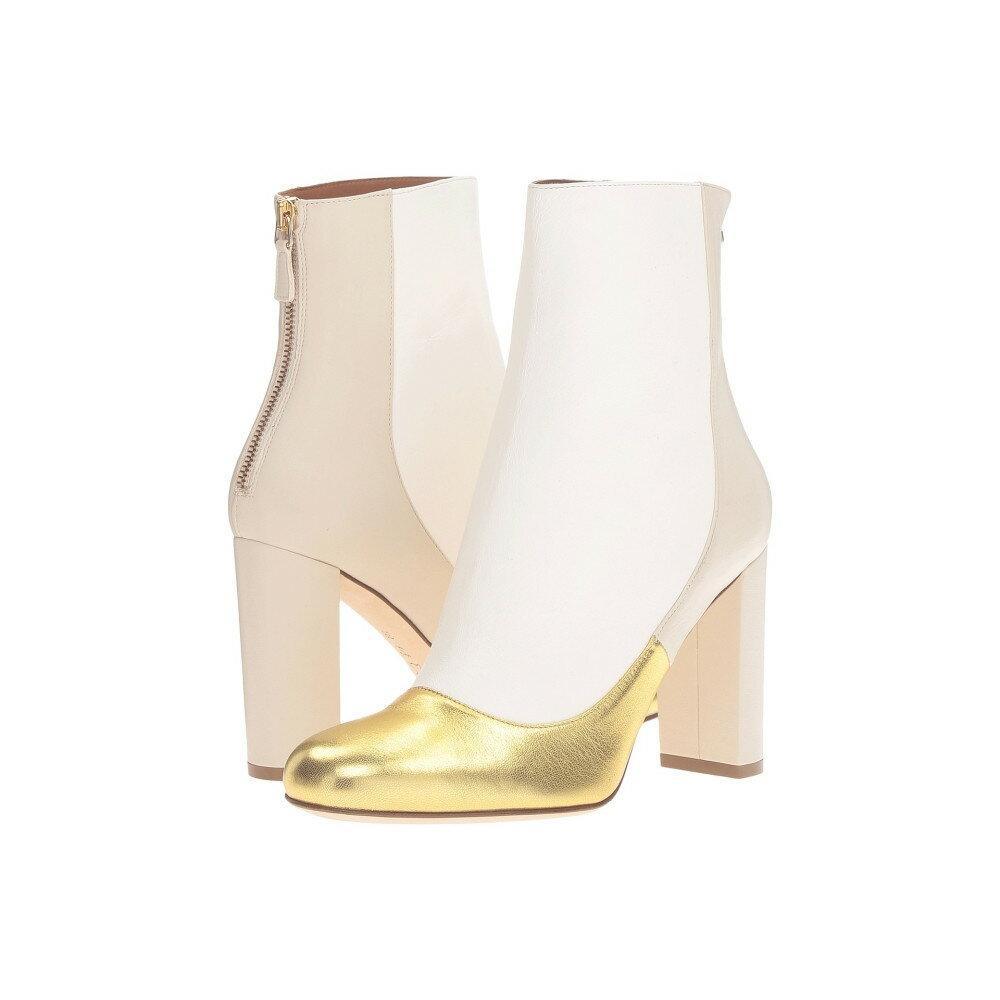 ミッソーニ レディース シューズ・靴 ブーツ【Leather Ankle Boots with Back Zipper with Gold Toe Detail】Gold