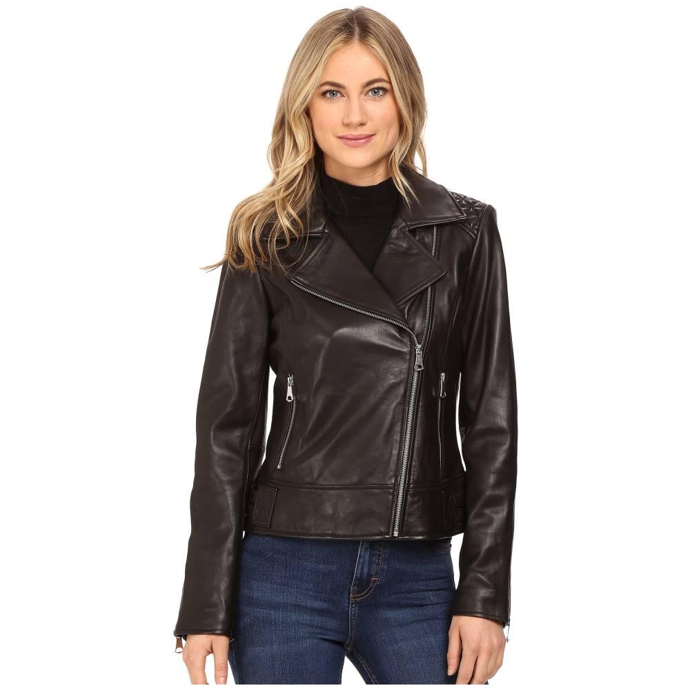 マークニューヨーク レディース アウター ジャケット【Leah 21 Glove Lamb Moto Jacket】Black