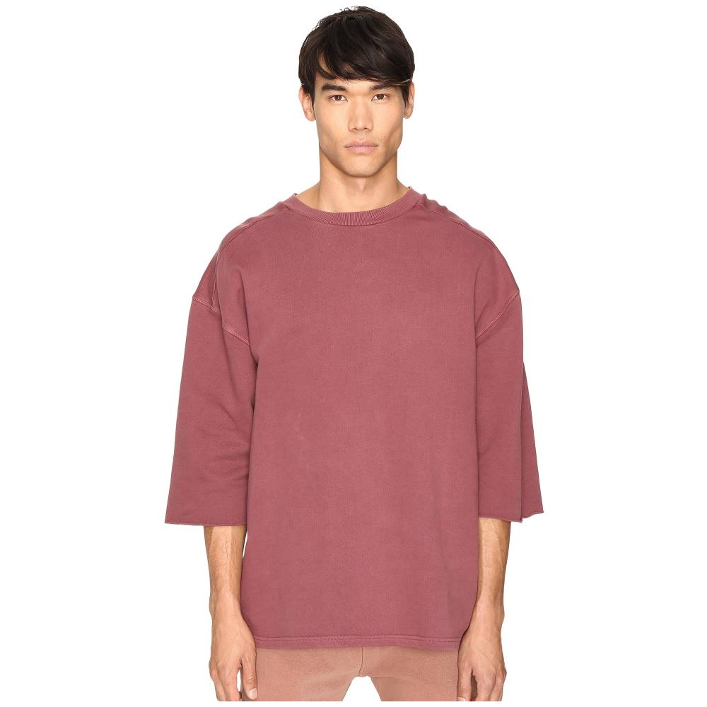 アディダス メンズ トップス Tシャツ【Short Sleeve Sweatshirt Tee】Oxblood Red
