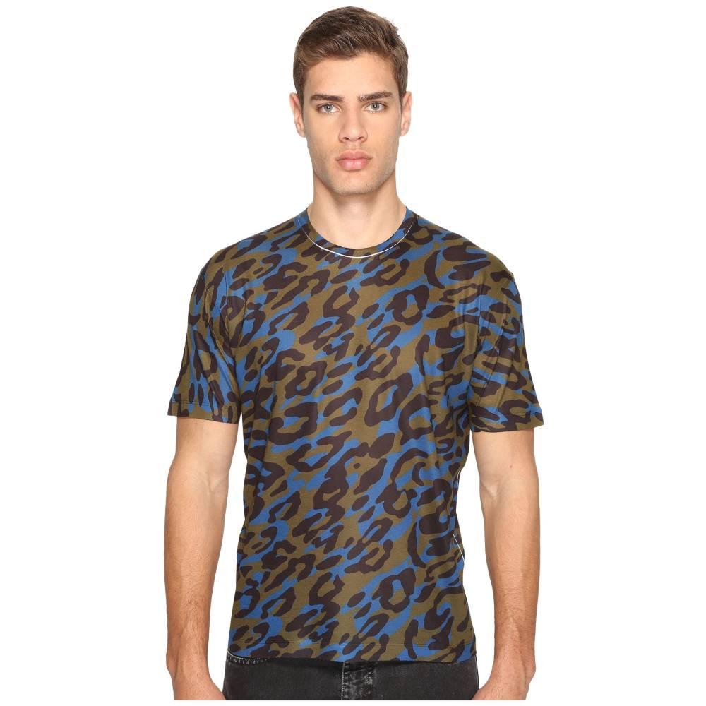 ディースクエアード メンズ トップス Tシャツ【Cheetah Print T-Shirt】Green/Black/Blue