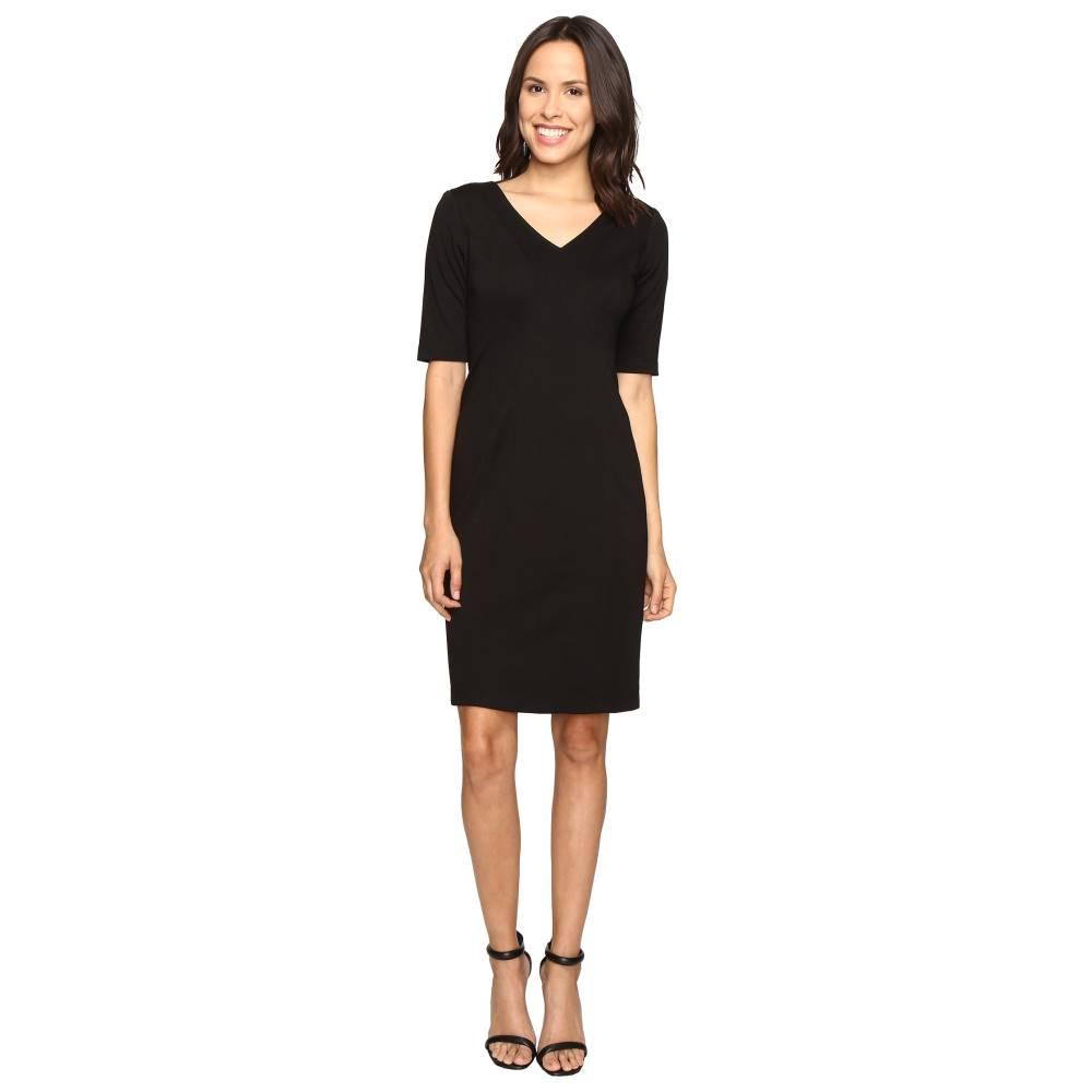 100% 満足保証。 クリスティンマイケルズ レディース ワンピース・ドレス ワンピース【Karmen Bodycon Ponte Midi Dress】Black