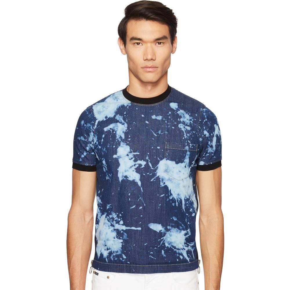 ディースクエアード メンズ トップス Tシャツ【Street Ska Denim Side Zip T-Shirt】Blue